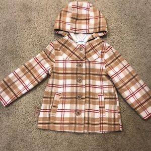 Girls plaid coat 4T